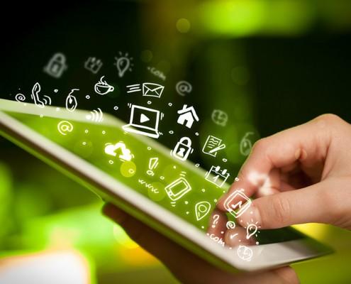 Touch-Bedienung für Homepage
